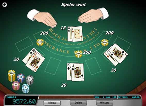 Blackjack switch online tafel
